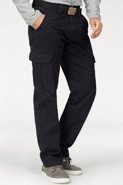 man's world cargobroek met opgestikte zakken zwart