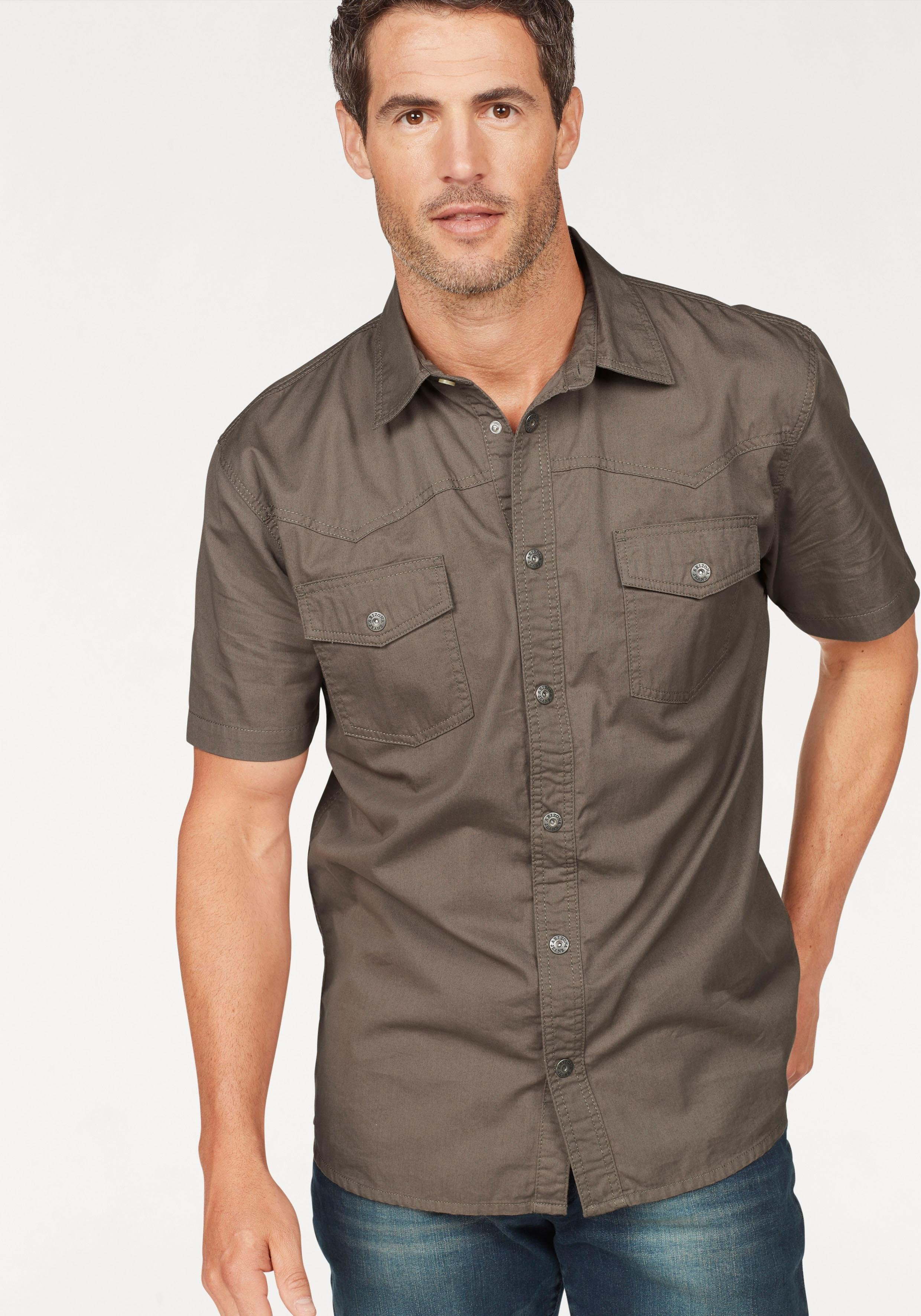 Arizona overhemd met korte mouwen in westernstijl nu online kopen bij OTTO