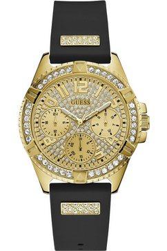 guess multifunctioneel horloge lady frontier, w1160l1 zwart