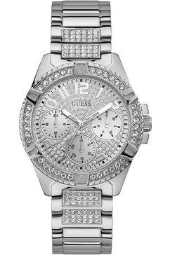 guess multifunctioneel horloge »lady frontier, w1156l1« zilver
