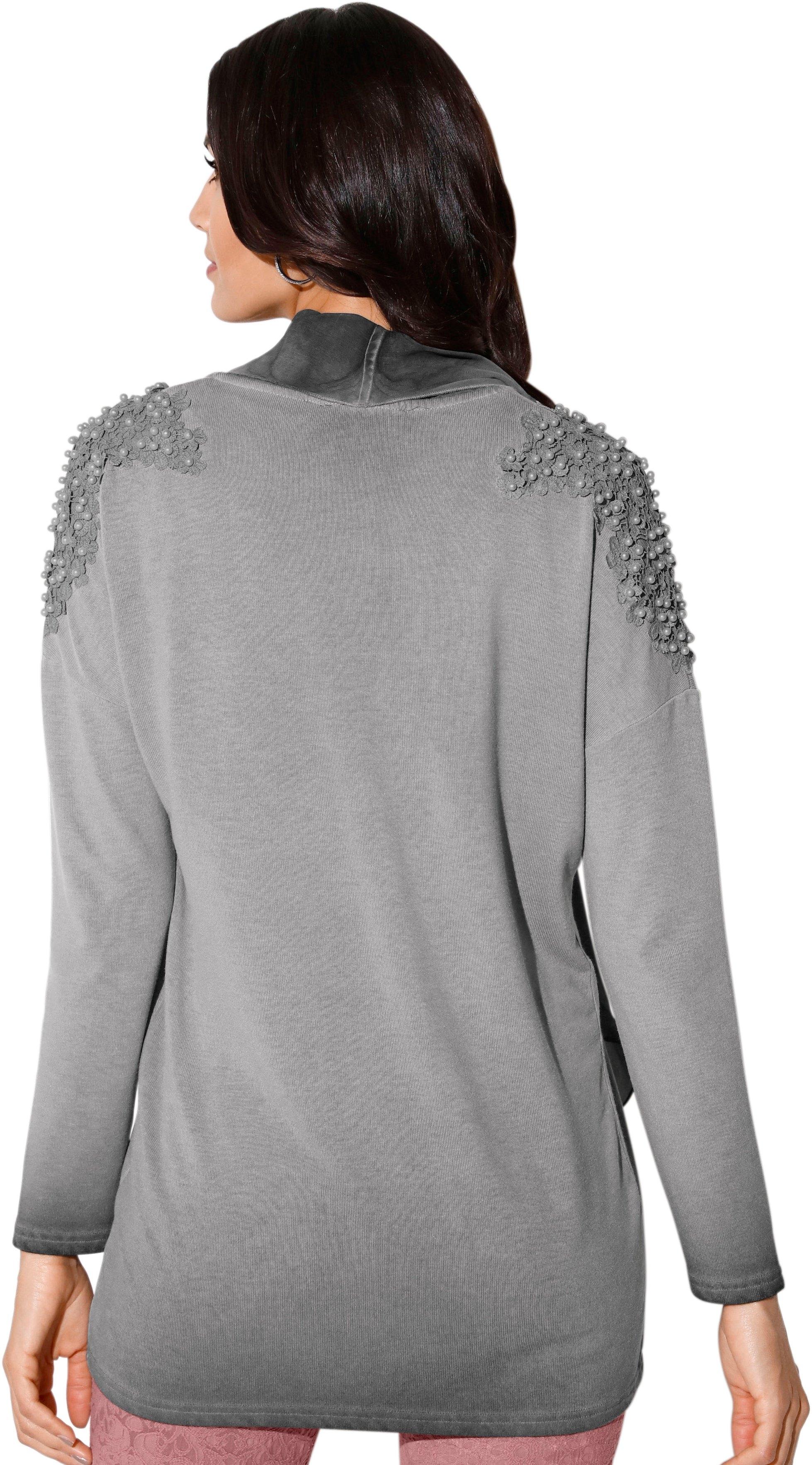 Vest Shop L Met De In Online Chiffon sjaalkraag Création R4qA5L3j