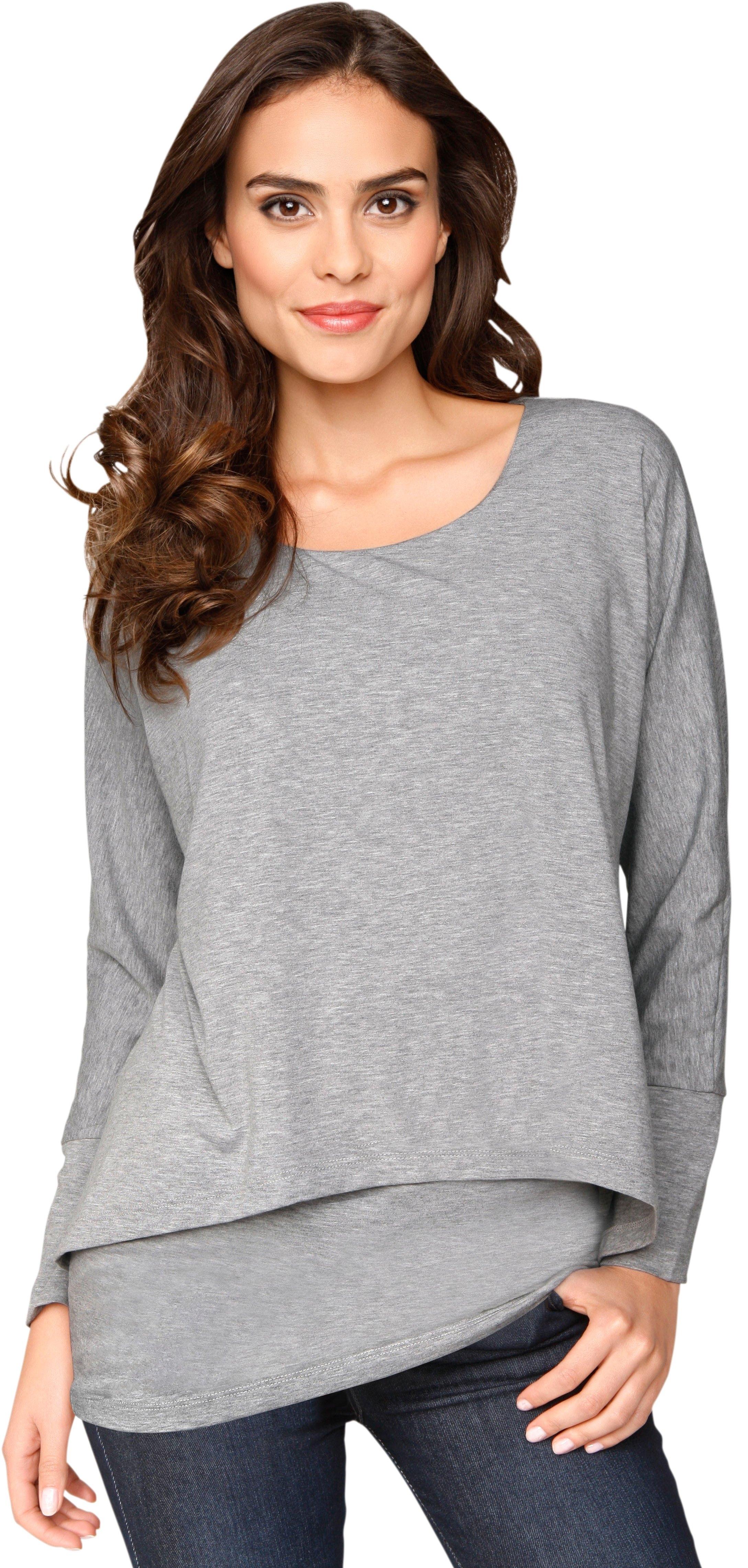 Ambria lang shirt in laagjes-look in de webshop van OTTO kopen