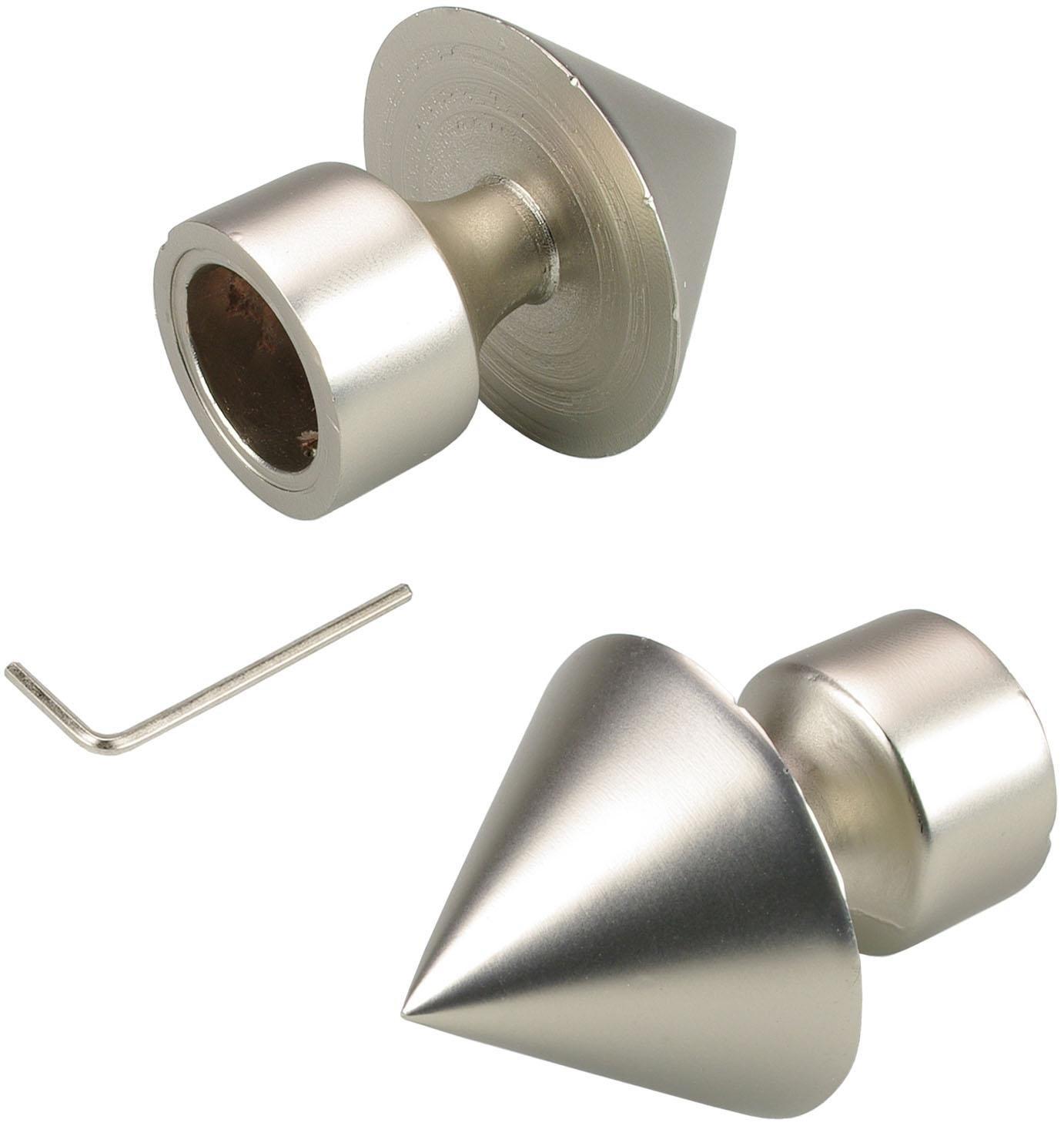 Liedeco gordijnroede-eindstuk Kegel met buishouder voor gordijnroeden ø 16 mm (set, 2 stuks) in de webshop van OTTO kopen
