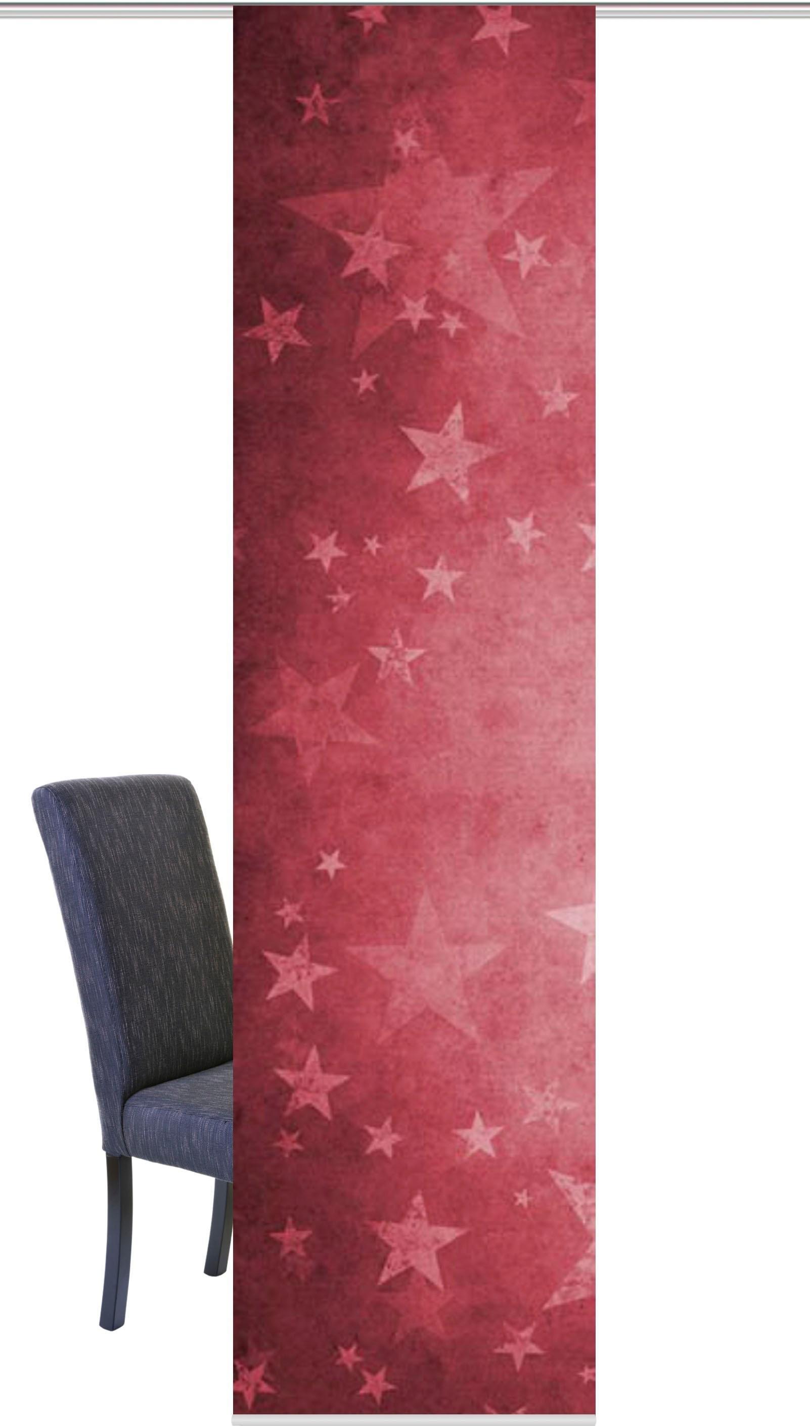 HOME WOHNIDEEN paneelgordijn Kerstster HxB: 245x60, schuifgordijn digitaal printen (1 stuk) veilig op otto.nl kopen