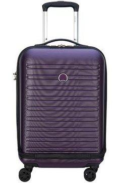 delsey harde trolley met laptopvak en 4 dubbele wieltjes, »segur, 55 cm« paars