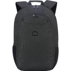 delsey rugzak met 15,6 inch-laptopvak, »esplanade, 2 vakken« zwart