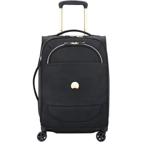 Delsey Montrouge 4 Wheel Trolley 55 black Zachte koffer