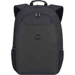 delsey rugzak met 17,3 inch-laptopvak, »esplanade, 2 vakken« zwart