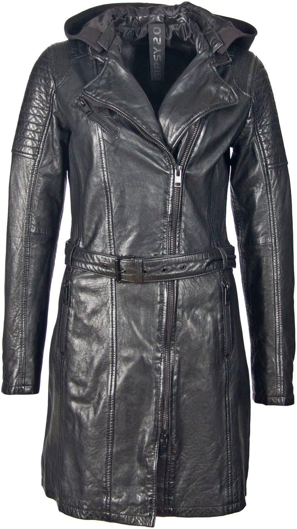 Op zoek naar een Gipsy Lange, leren jas SONNYA2 met uitknoopbare jersey-hoody? Koop online bij OTTO