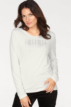 clarina shirt met ronde hals wit