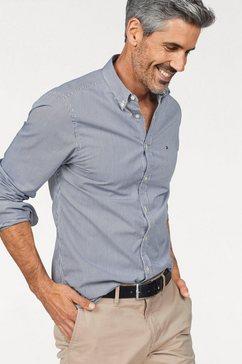 tommy hilfiger overhemd »core stripe shirt« blauw