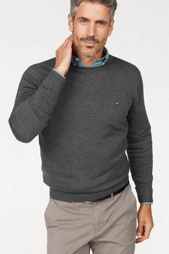tommy hilfiger trui met ronde hals »core cotton-silk cneck« grijs