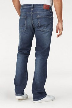 pepe jeans straight jeans »kingston zip« blauw