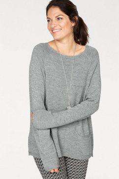 clarina trui met ronde hals grijs