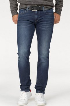pepe jeans slim fit-jeans »hatch« blauw