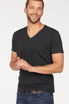 tommy jeans t-shirt »tjm original triblend v neck tee« zwart