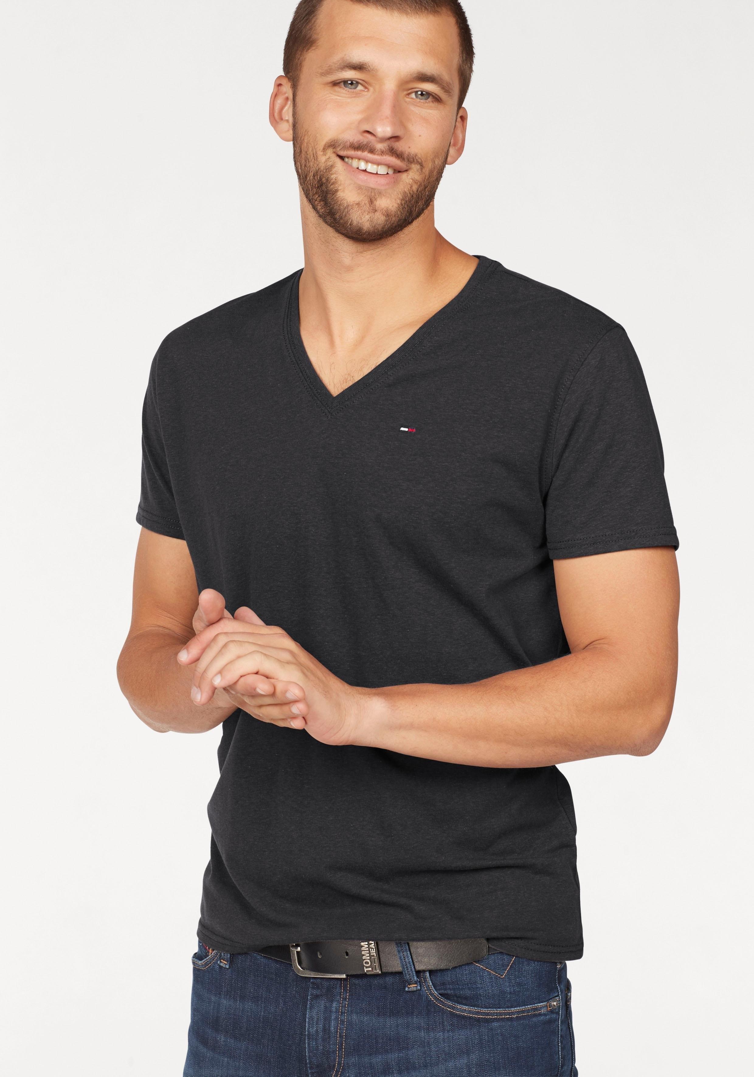 Tommy Jeans T-shirt »TJM ORIGINAL TRIBLEND V NECK TEE« nu online bestellen