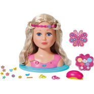 zapf creation styling- en make-uphoofd, »baby born sister styling head« beige