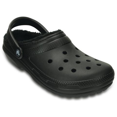 Crocs Klompen Unisex Black-Black Classic Lined