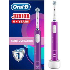 oral b elektrische tandenborstel junior, 1 opzetborsteltje paars