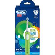 oral b elektrische tandenborstel junior, 1 opzetborsteltje groen