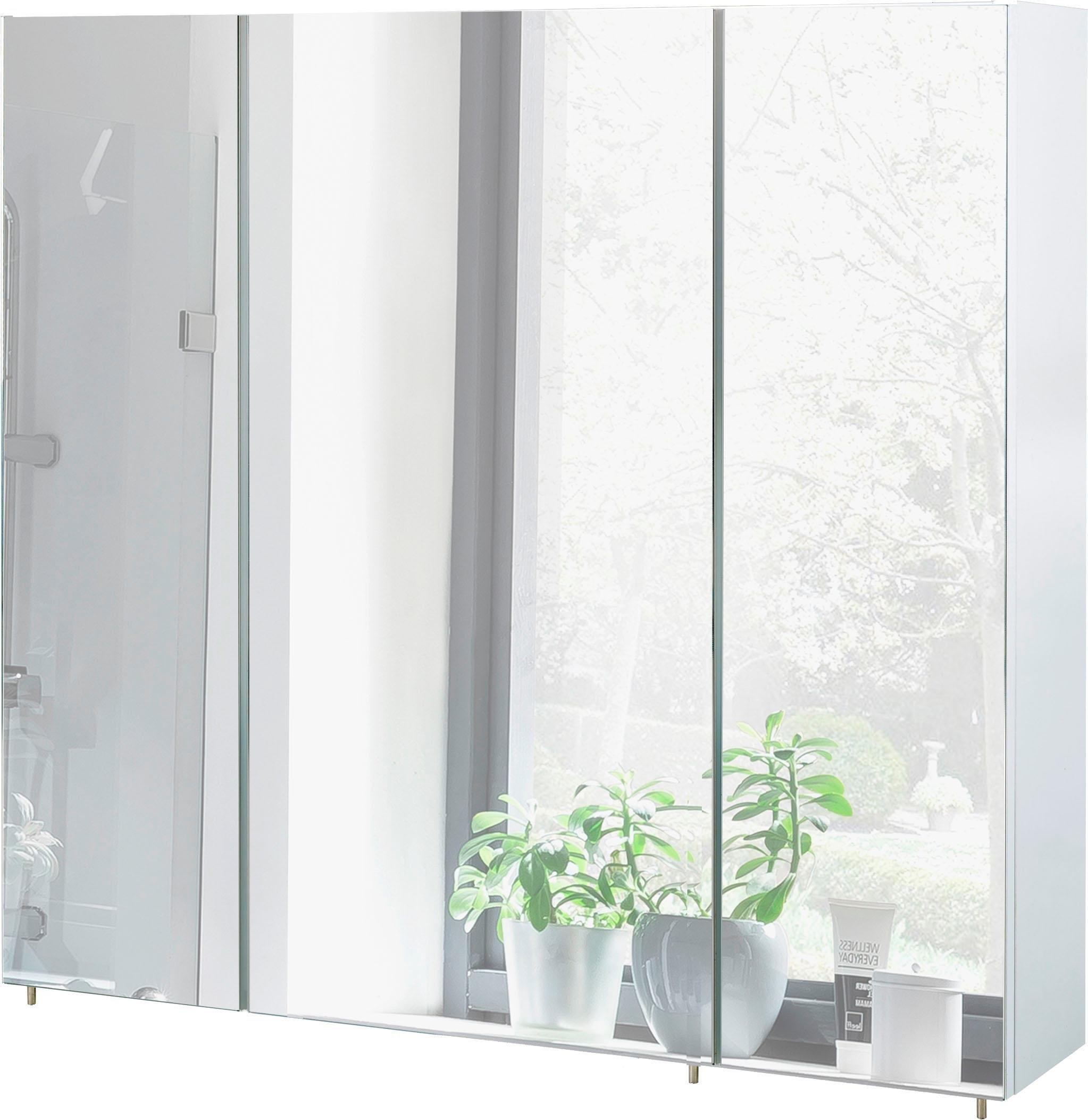 Schildmeyer Spiegelkast Basic Breedte 80 cm, 3-deurs, glasplateaus, Made in Germany bij OTTO online kopen