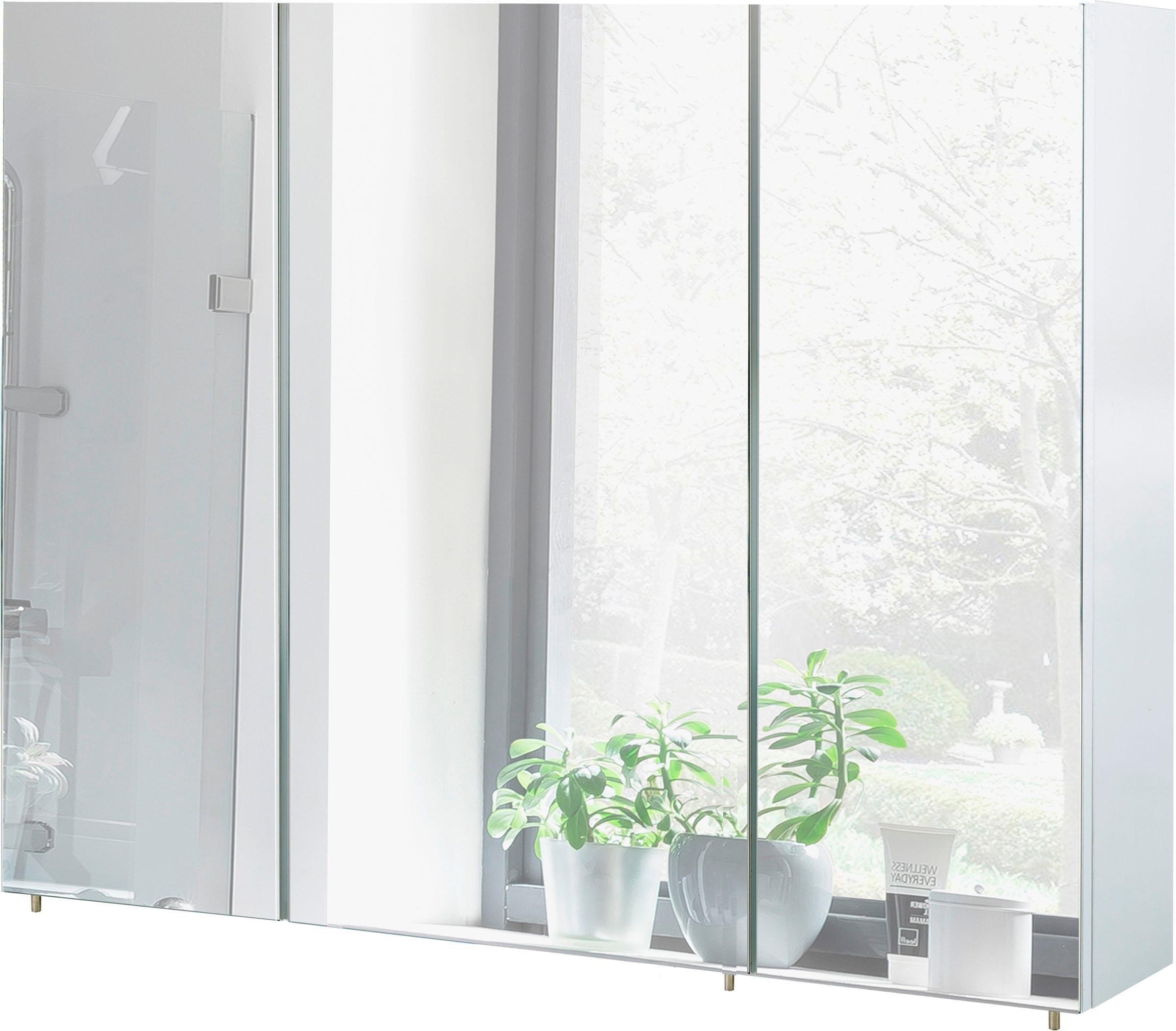 Op zoek naar een Schildmeyer spiegelkast Basic Breedte 100 cm, 3-deurs, glasplateaus, Made in Germany? Koop online bij OTTO