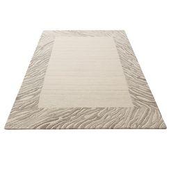 vloerkleed, »kuebra«, theko exklusiv, rechthoekig, hoogte 14 mm, handgetuft grijs