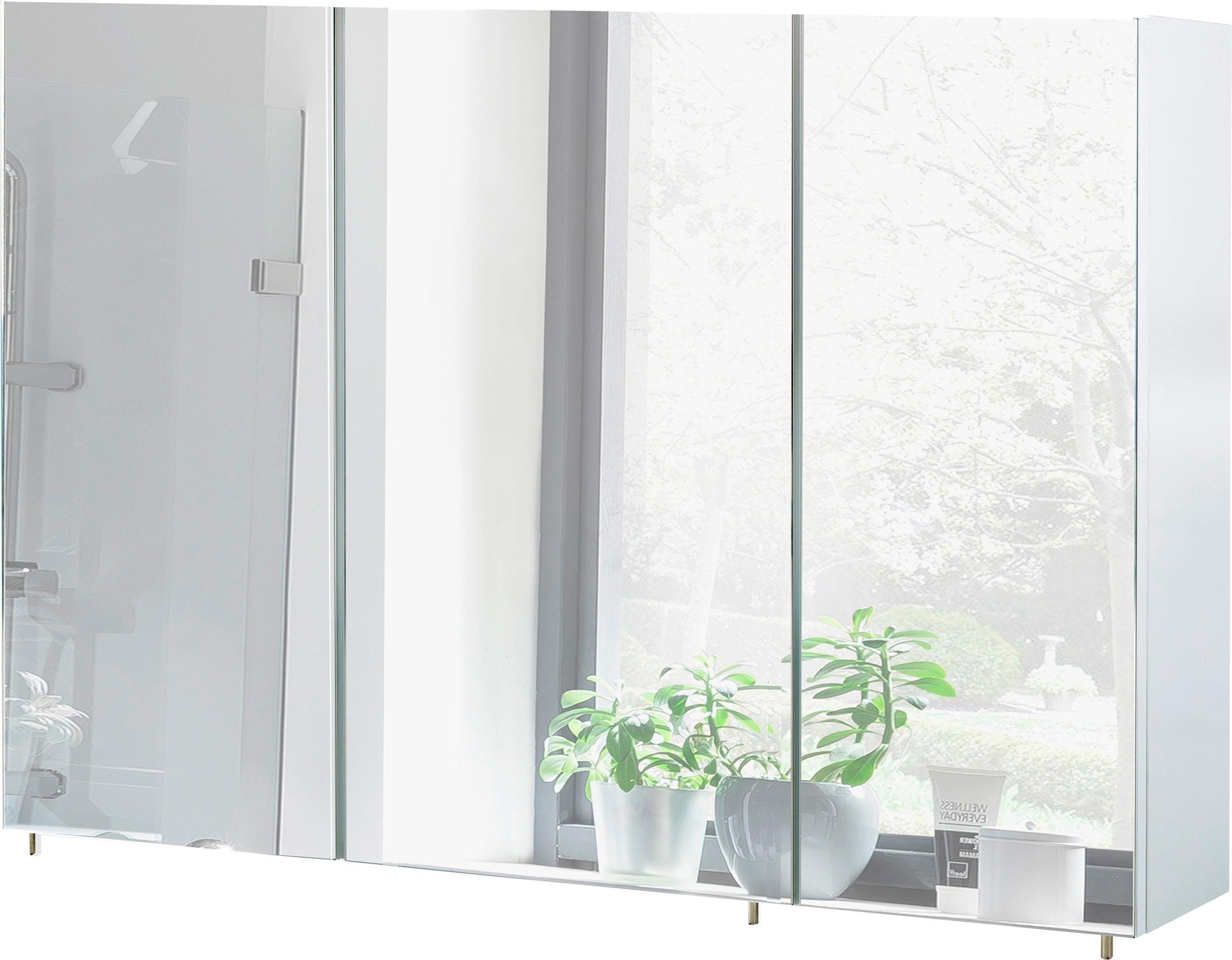 Schildmeyer spiegelkast Basic Breedte 120 cm, 3-deurs, glasplateaus, Made in Germany nu online kopen bij OTTO