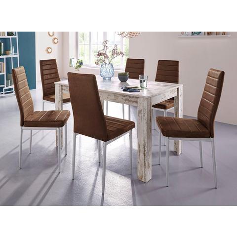 Eettafel Lynn, breedte 120 cm en 4x stoel Kate