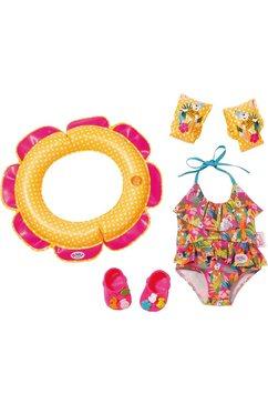 zapf creation poppenkleding, »baby born zwemplezier set« multicolor