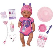 zapf creation pop 'baby born soft touch girl brown eyes' (8-delig) roze