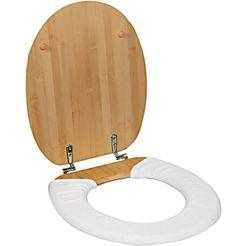 badstoffen toiletbril-overtrek met drukknopen