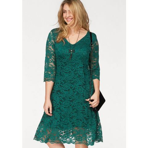 Junarose kanten jurk Emma groen