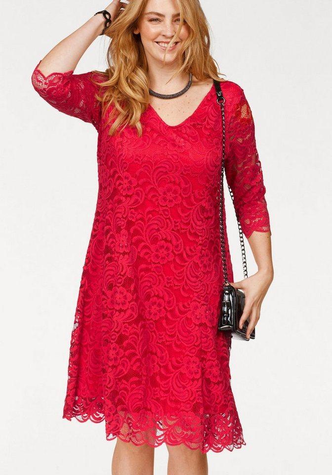 Junarose kanten jurk Emma rood