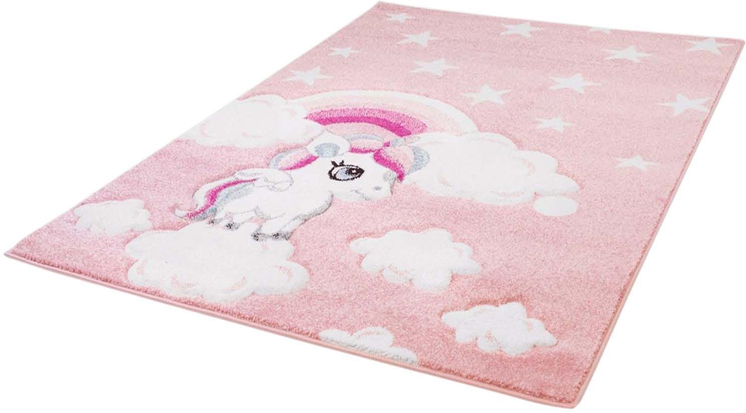 Op zoek naar een Carpet City vloerkleed voor de kinderkamer Bueno Kids 1450 Eenhoorn, met de hand gesneden reliëfpatroon? Koop online bij OTTO