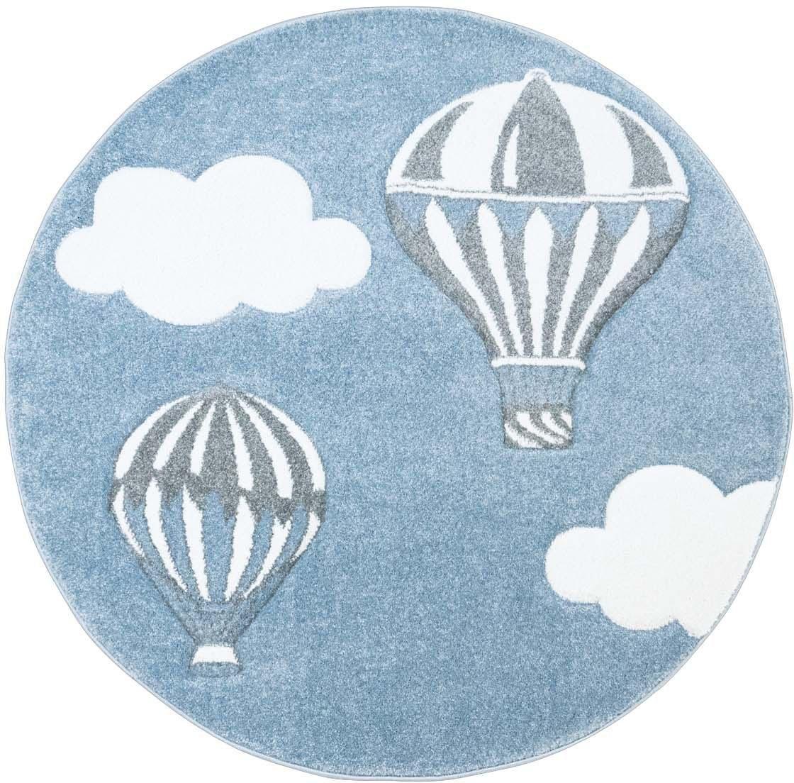 Carpet City vloerkleed voor de kinderkamer Bueno Kids 1456 Heteluchtballon, met de hand gesneden reliëfpatroon voordelig en veilig online kopen