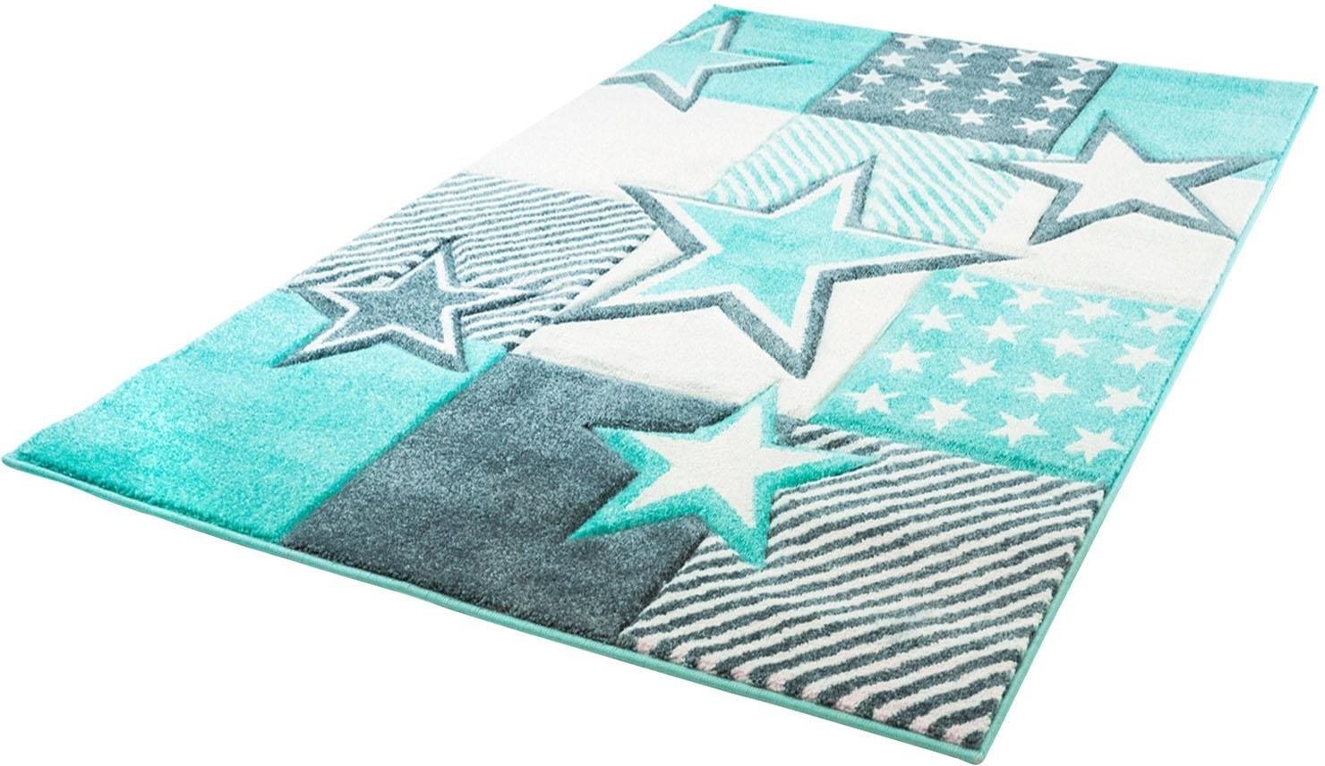 Carpet City vloerkleed voor de kinderkamer Bueno Kids 1451 Sterren, met de hand gesneden reliëfpatroon online kopen op otto.nl