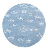 vloerkleed voor de kinderkamer, »bueno kids 1457«, carpet city, rond, hoogte 13 mm, machinaal blauw