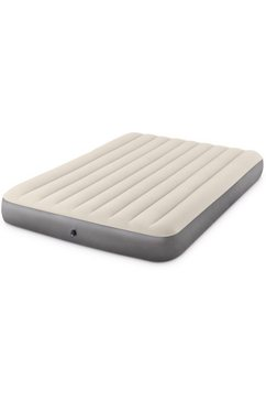 intex »deluxe single high airbed« luchtbed grijs