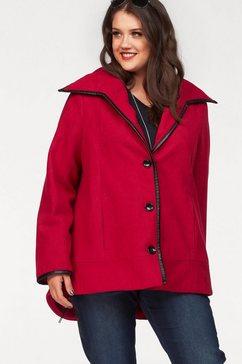 zhenzi wollen mantel rood