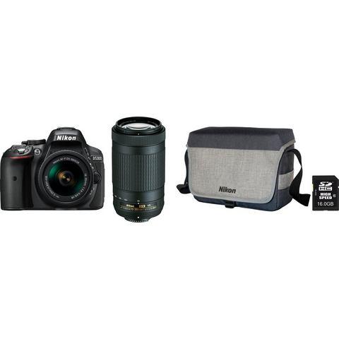 Nikon D5300 zwart + AF-P 18-55mm VR + 70-300mm iF VR