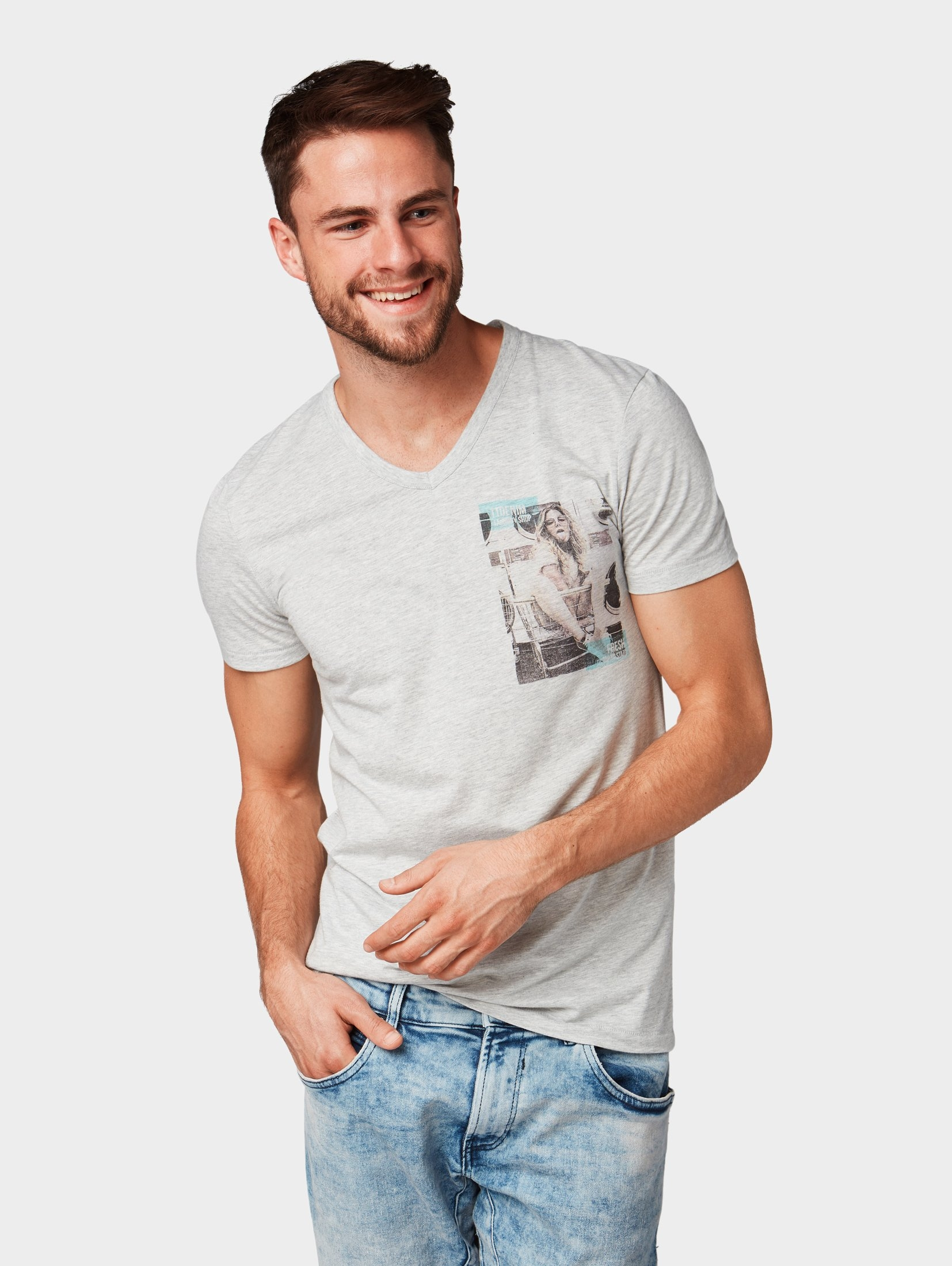 T shirt Je Met Fotoprint Tailor Denim Tom Bij shirtt Vind R34A5jLq