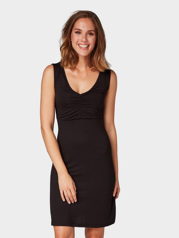 Tom Tailor jerseyjurk jurk met V-hals zwart