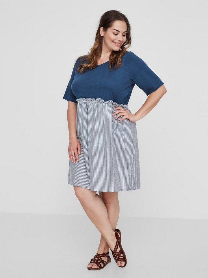 Junarose 2/4-mouwen jurk blauw