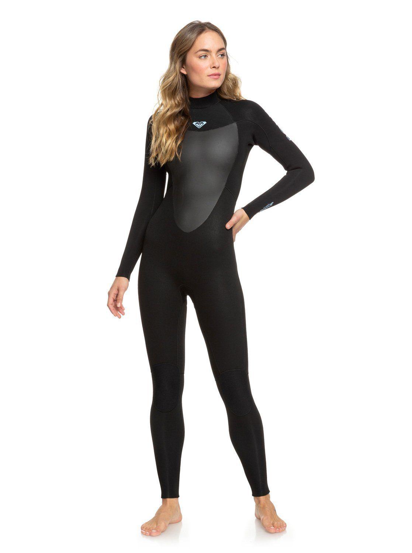 Roxy 32 Prologue FLT Wetsuit met Achterrits Meisjes, black