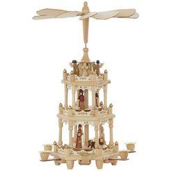 kerstpiramide 3 verdiepingen beige