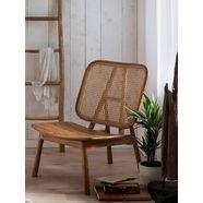 sit rotanstoel met weens vlechtwerk, moderne lounge chair geschikt voor alle kamers beige