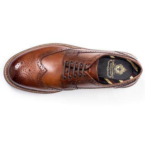 NU 21% KORTING: Base London schoenen met budapest-perforatie Grouse