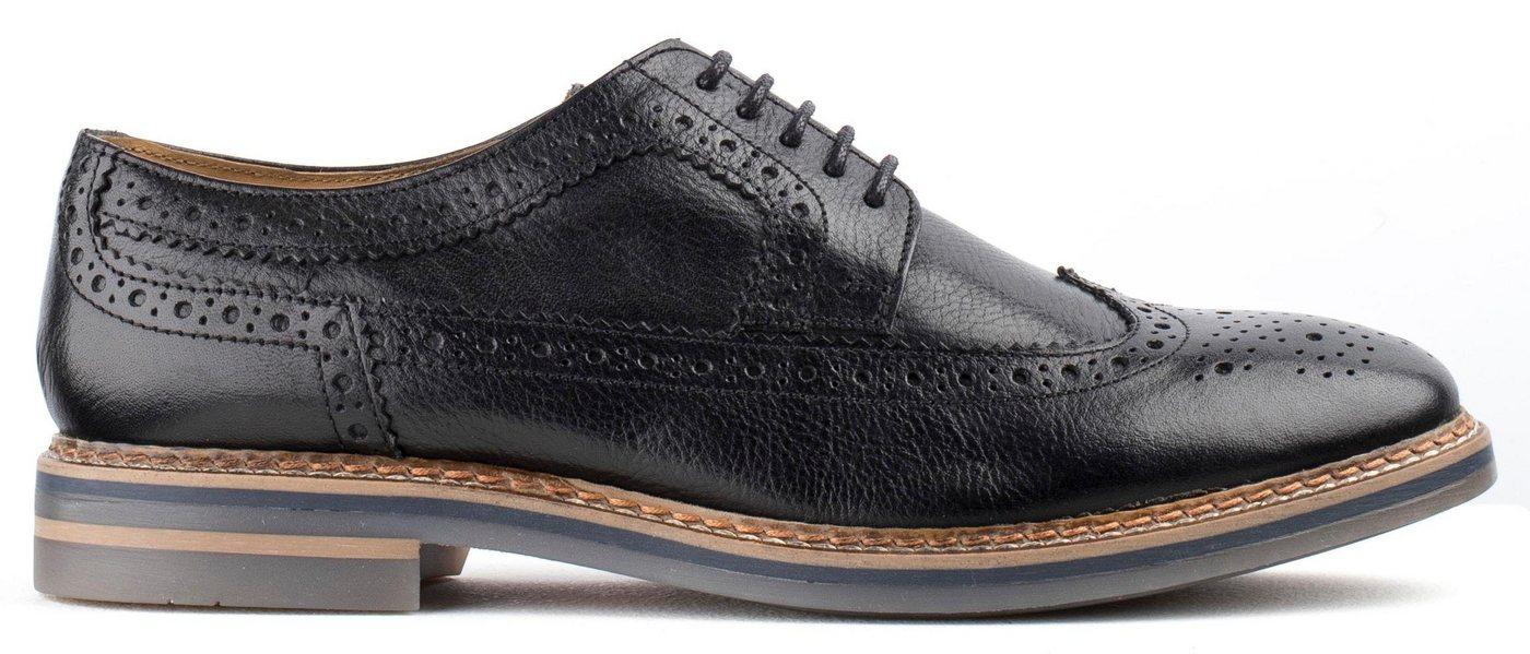 Base London schoenen met Boedapest-perforatie Turner